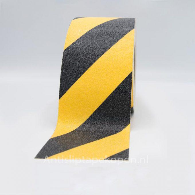 zwart gele antislip tape 100 mm.